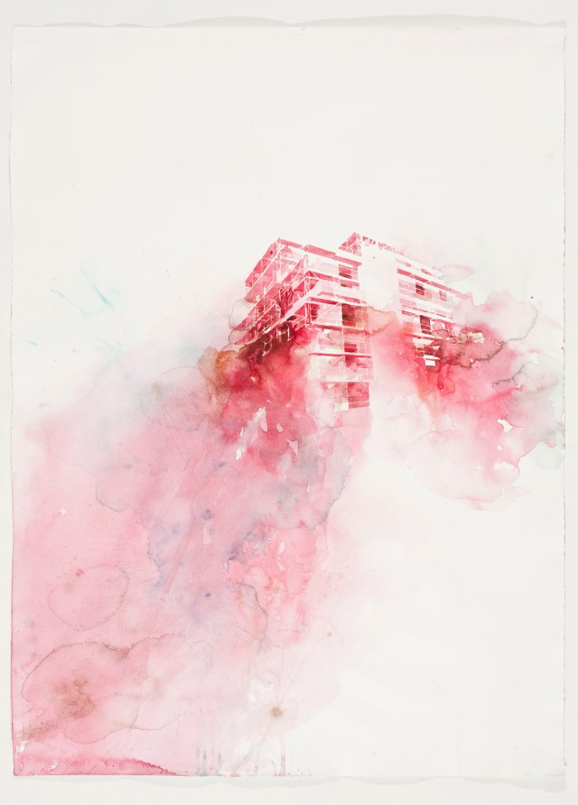 serie Bausstelle, Hiroshima strasse, 106x80, 250 gram hahnemüle 2012 foto ding musa