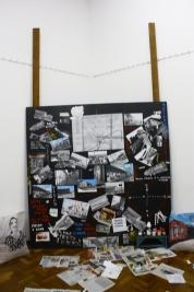 painel e colagem de arte